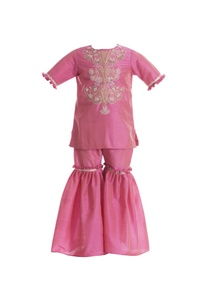 zardozi-embroidered-kurta-with-sharara-pants