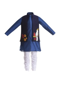 parrot-embroidered-motif-jacket-with-kurta-and-churidar