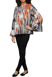 marble-print-full-sleeves-top