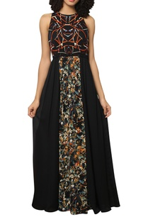 digital-printed-embroidered-maxi-dress