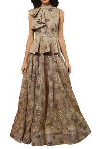 peplum-top-with-flared-lehenga-skirt
