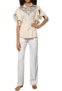ruffle-sleeves-embroidered-shirt