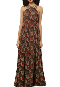 printed-maxi-dress-with-threadwork