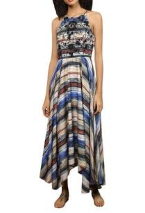 abstract-stripe-pattern-maxi-dress