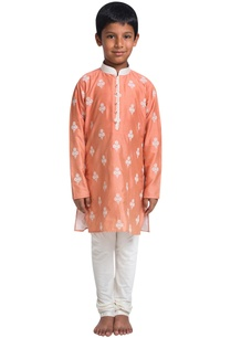 embroidered-knee-length-kurta-with-churidar