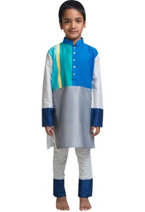 stripe-panel-kurta-and-churidar