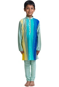 stripe-panel-kurta-set