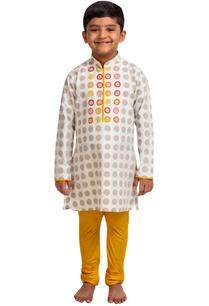 polka-dot-embroidered-kurta-with-churidar