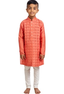 checkered-kurta-with-churidar