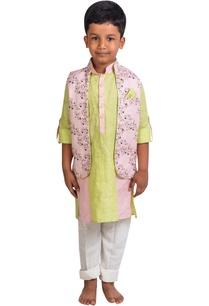 floral-printed-jacket-with-kurta-and-pants