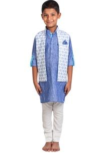 tree-printed-jacket-with-kurta-and-pants