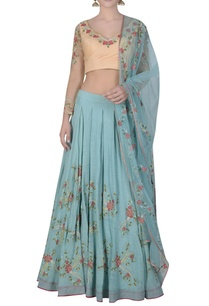 box-pleated-embroidered-lehenga-set