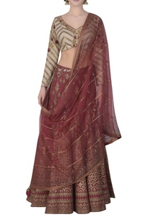 foil-print-lehenga-embroidered-blouse-set