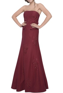 off-shoulder-embroidered-gown