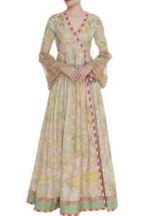 printed-wrap-anarkali-kurta-set