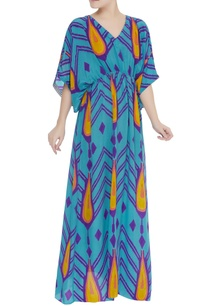 blue-printed-kaftan