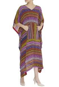 tribal-printed-kaftan-dress