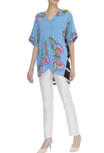 butterfly-printed-short-tunic