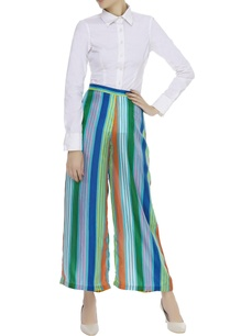 blue-striped-flared-pant