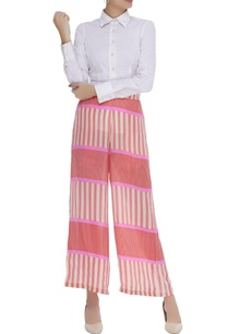striped-flared-pant