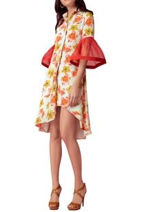 floral-printed-shirt-dress