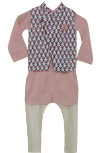 printed-nehru-jacket-with-kurta-churidar