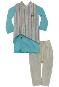 stripe-nehru-jacket-with-kurta-churidar
