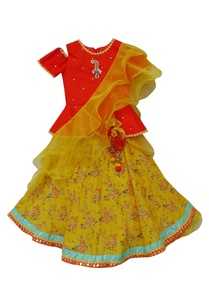peplum-blouse-with-skirt-dupatta