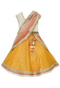 white-choli-with-yellow-lehenga-and-dupatta