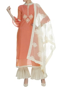 frill-sleeves-kurta-with-pants-embroidered-dupatta