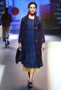 linen-checkered-dress-set