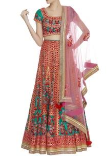 applique-thread-embroidered-lehenga-set