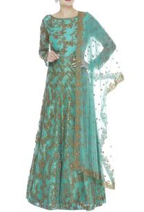 cutdana-embroidered-kurta-lehenga-set