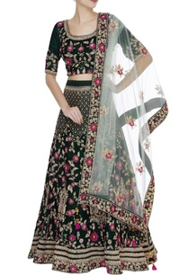 hand-embroidered-sequin-dabka-lehenga-set