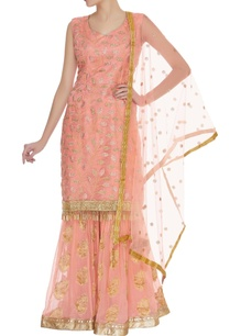 embellished-kurta-with-sharara-dupatta