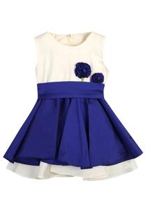flower-motif-flared-dress