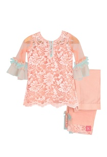 frill-sleeves-lace-work-kurta-set