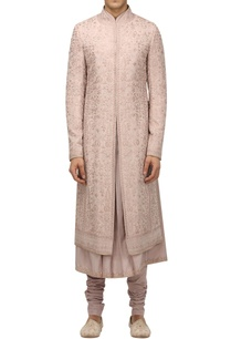 floral-artwork-sherwani-with-kurta-churidar
