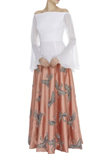 off-shoulder-top-with-embroidered-skirt