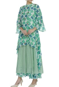 printed-asymmetric-tunic-with-layered-skirt