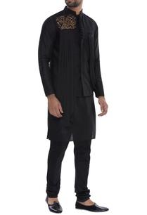 pleated-embroidered-nehru-jacket-with-kurta-pyjama