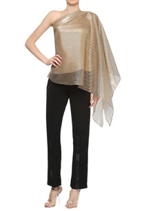 one-shoulder-draped-sleeve-top