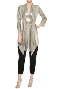 v-neck-jacket-top-with-shawl-collar-drape