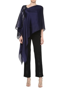 asymmetrical-neckline-top-with-handkerchief-hem-sleeve