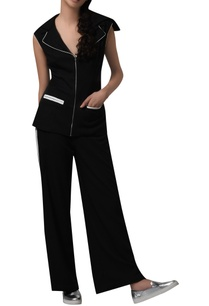 cut-out-blazer-flared-pants