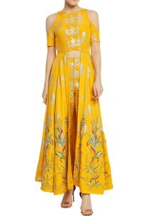 tuilip-embroidered-cold-shoulder-kurta-set