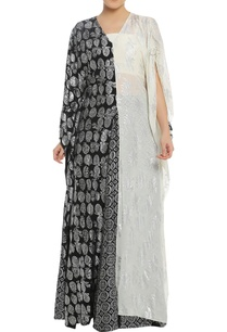 printed-palazzo-with-bustier-and-long-kaftan-cape