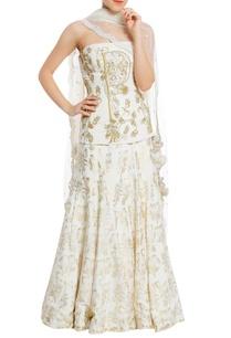 embroidered-corset-blouse-lehenga-with-scallop-border-dupatta