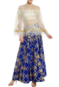 off-shoulder-blouse-with-embrodiered-cape-lehenga