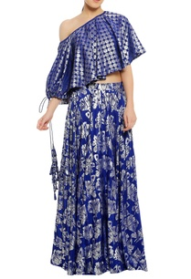 one-shoulder-embroidered-top-with-skirt
